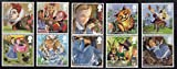 Alice's Adventures in Wonderland Collectible Postage Stamp Set UK