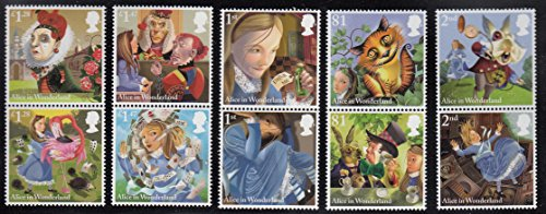 Alice's Adventures in Wonderland Collectible Postage Stamp Set UK - Uk Stamp