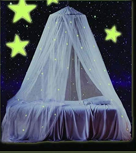 Mombasa Children's Glow in the Dark Stars White Polyester Bed Canopy