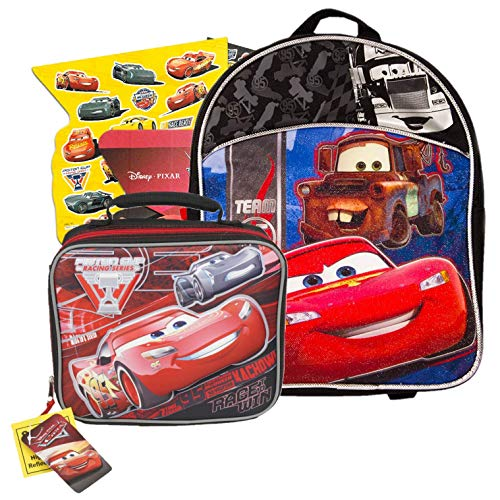 Disney Cars Backpack with Lunch Box (11