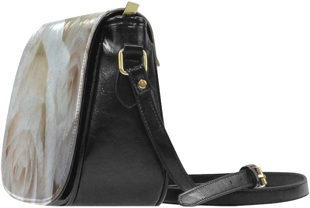 D-Story Pale Roses Classic Saddle Bag Shoulder Crossbody Bag Small