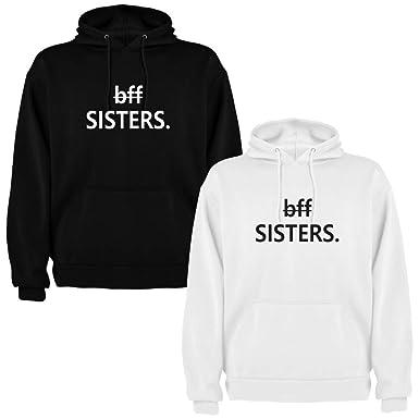 Dalim Pack de 2 Sudaderas para Mujer BFF Sisters (Mujer Tamaño L + Mujer Tamaño