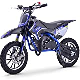 Renegade 50R 49cc Petrol Kids Mini Dirt Bike Moto Cross Scrambler - Blue