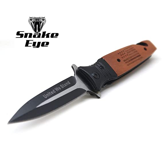 Amazon.com : Snake Eye Tactical Everyday Carry Wood Handle ...