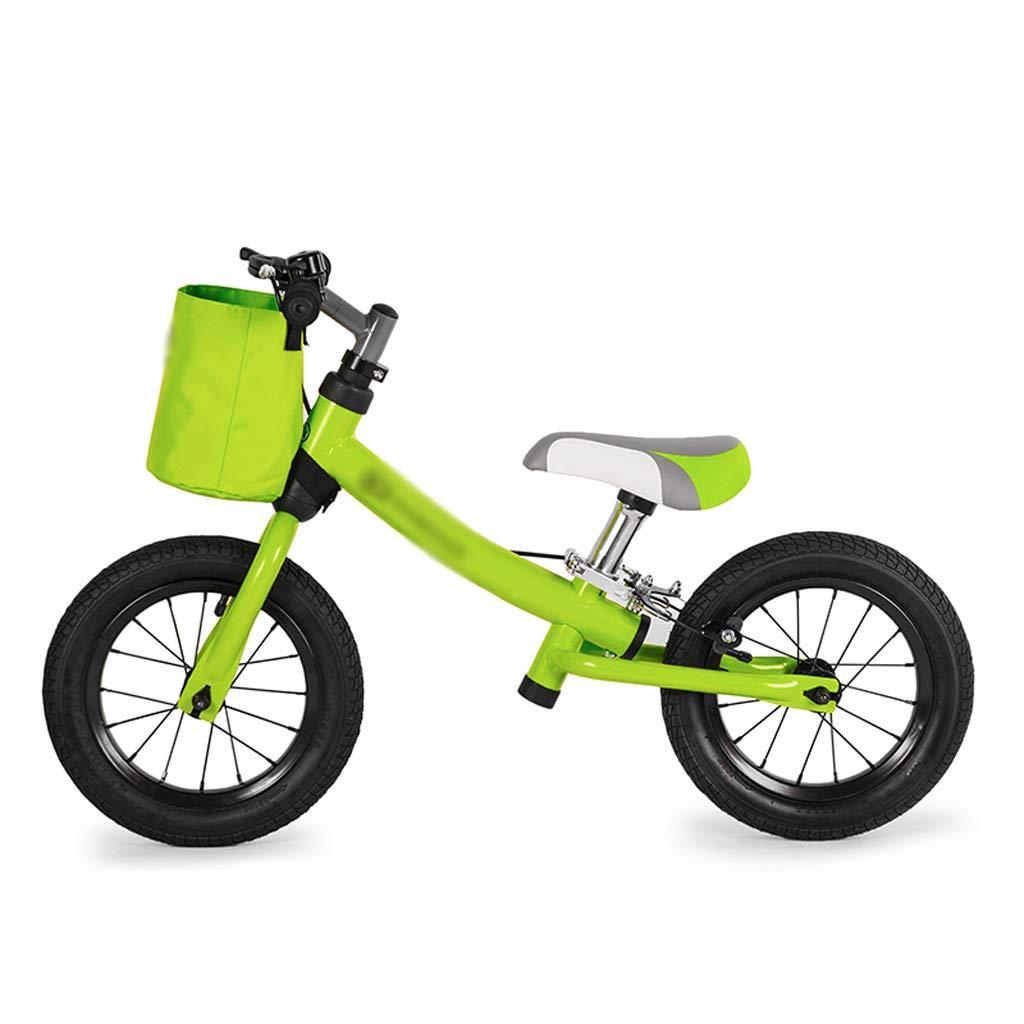 DUWEN Bilancia per Bambini Auto in Acciaio ad Alto tenore di Carbonio Bicicletta a Due Ruote 2-3-6 Anni (colore   verde)
