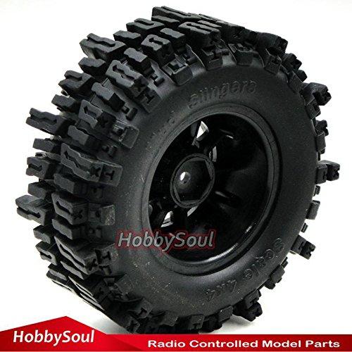 "4Stk RC 1.9/"" Mud Slingers Crawler Reifen Tire Height 93mm Für 1.9 Beadlock Felge"