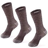 MERIWOOL Merino Wool Blend Outdoor and Boot Crew Socks Pack of 3 Pairs