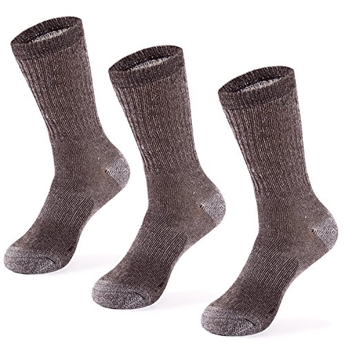 (Merino Wool Hiking Socks for Men n Women - 3 Pairs )