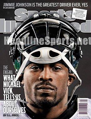 2010 Michael Vick Eagles No Label Sports Illustrated - Michael Vick Memorabilia