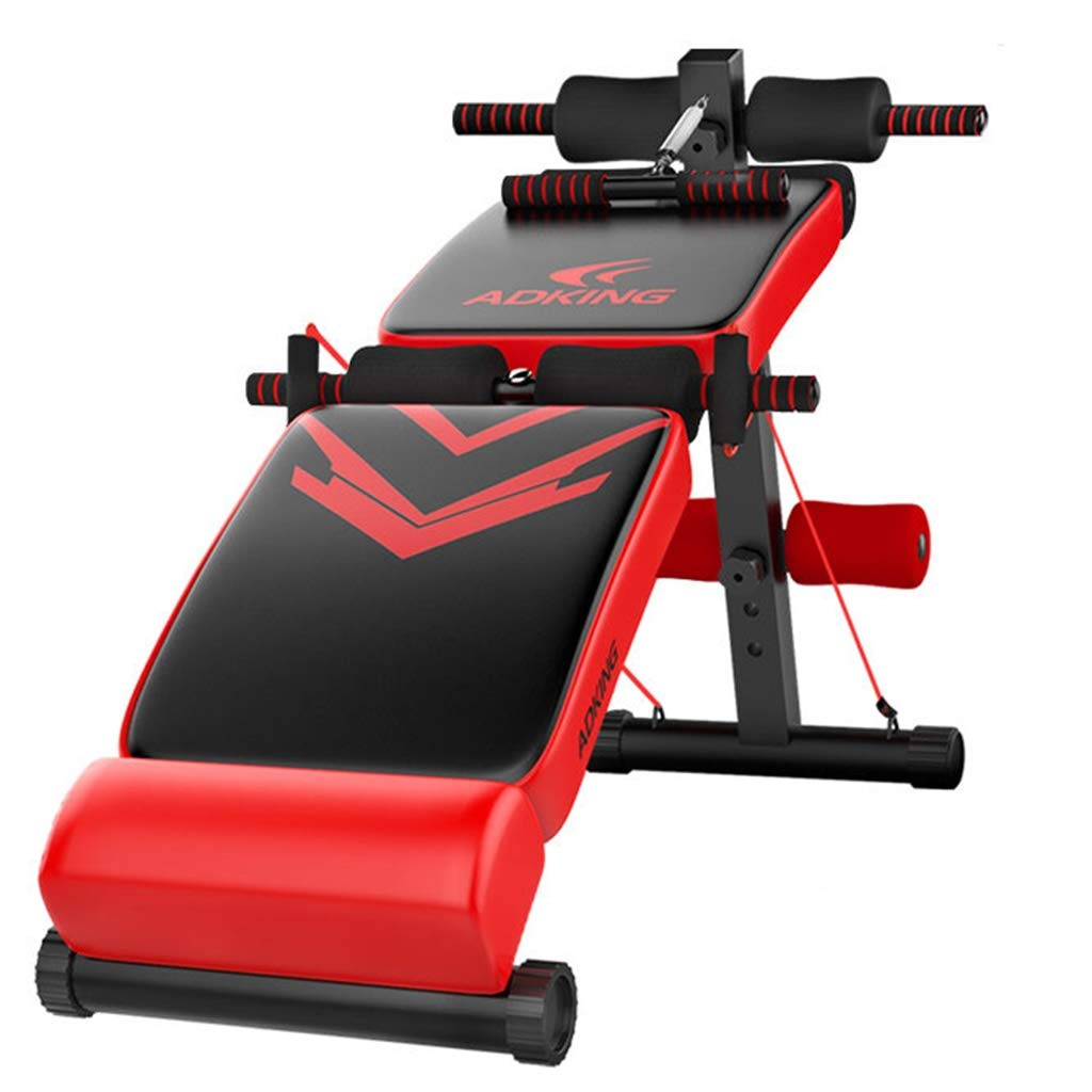 Lxn Rot Falten Sit up Bank Slant Board Pro Ab, Verstellbare Workout Bauch Übung Multifunktions Bench Board, Multifunktionale Fitnessgeräte