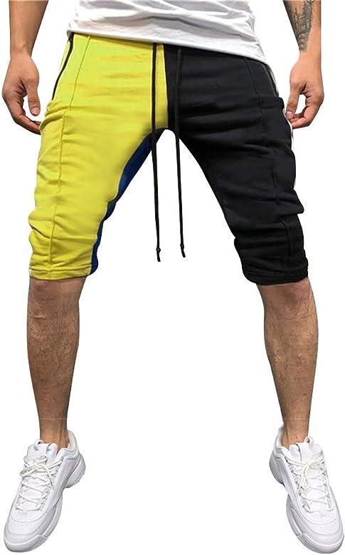 Pantalones Hombre, Pantalones cortos empalme estampados de los ...