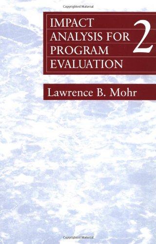 Impact Analysis for Program Evaluation (Series; 40)