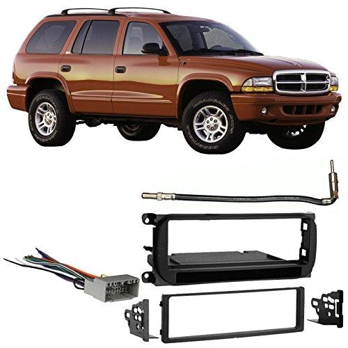 Fits Dodge Durango 2002-2003 Single DIN Stereo Harness Radio Install Dash Kit ()