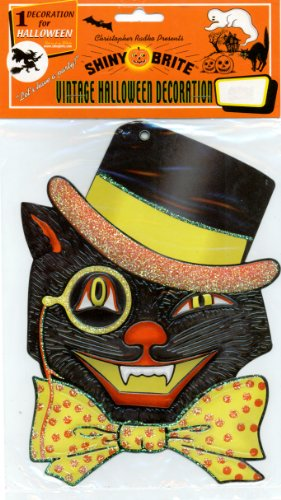 Shiny Brite Vintage Halloween Decoration - Cat