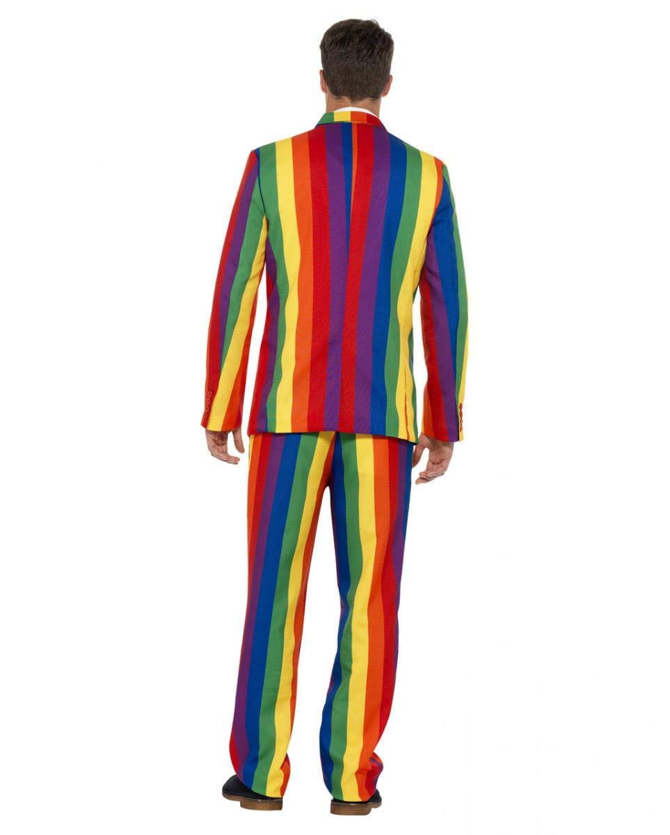 Horror-Shop Horror-Shop Horror-Shop Bunter Regenbogen Anzug mit Krawatte für Rainbow Gay Events L d8517b