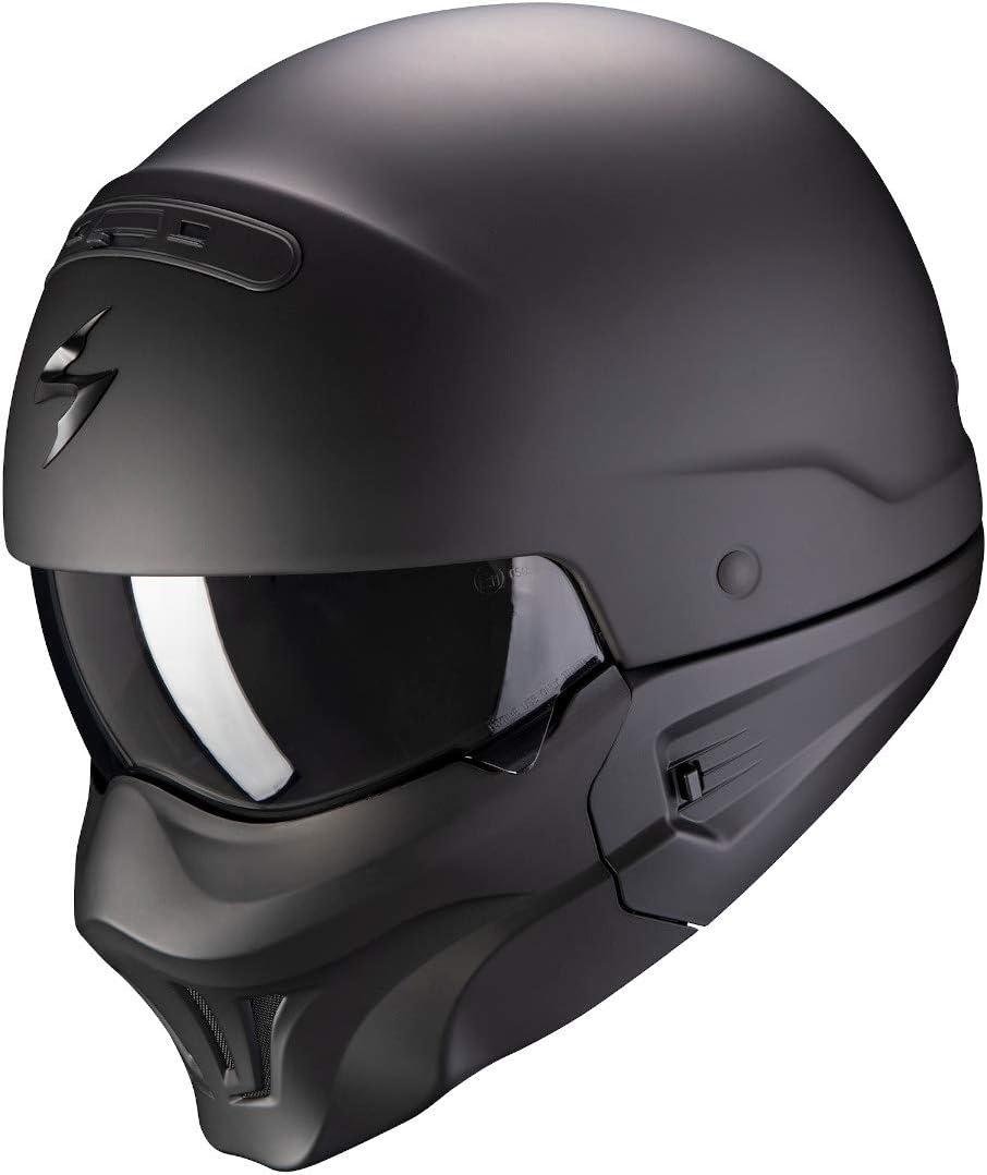 Scorpion NC Casco per Moto, Hombre, Negro, M
