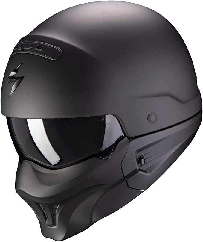 SCORPION Casque moto EXO-COMBAT ROOKIE Matt Black-Red XS Noir//Rouge