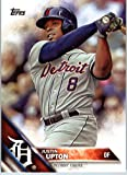 2016 Topps Series 2 #673 Justin Upton Detroit Tigers Baseball Card in Protective Screwdown Display Case