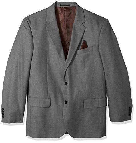 Alexander Julian Colours Men's Big and Tall Single Breasted Modern Fit 2 Button Notch Lapel Suit Separate Jacket, Dark Gray Sharkskin, 56 Regular