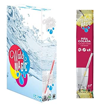 Water Magic, Pina Colada Pajitas de sabor – Estuche de 14 ...