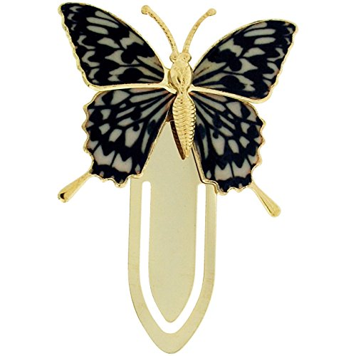 The Olivia Collection Goldtone Multicoloured Butterfly Bookmark SC1227