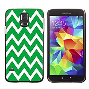 Graphic4You Chevron Pattern Design Hard Case Cover for Samsung Galaxy S5 (Green)