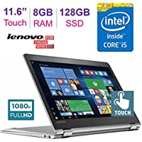 2017 Lenovo Yoga 11.6'' 710 2-in-1 Touchscreen FHD (1920 x 1080) Laptop PC, 7th Gen Intel Core i5-7Y54 Processor, 8GB RAM, 128GB SSD, HD Graphics 615, Bluetooth, Up to 8hrs Battery Life, Windows 10