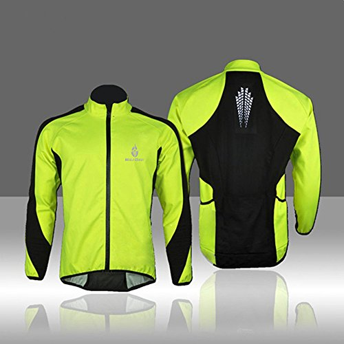 docooler WOLFBIKE Fleece Thermal Cycling Long Sleeve Jersey Winter Outdoor Sports Jacket Windproof Wind Coat Bicycle Cycle Wear Clothing (Cycling Jersey Winter compare prices)