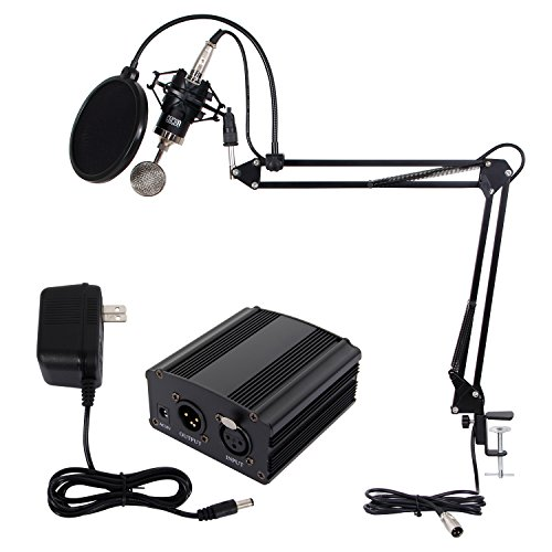 TONOR Condenser Microphone Set Recording Mic with Suspens...