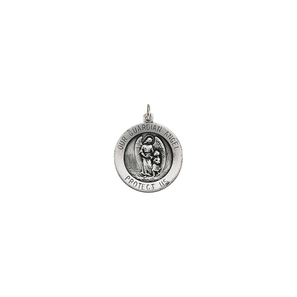 925 Sterling Silver Guardian Angel Medal 18mm