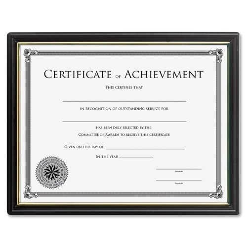 Wholesale CASE of 25 - Lorell Multipurpose Frame w/Cert. of Achievement -Multipurpose Frame, 8-1/2''x11'', Black