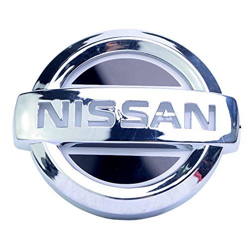 """Car 5D Polar Emblem LED Lights Logo Modify License Plate Lights Sticker Badge for Nissan Tiida Red (4.17"""" x 3.54"""")"""