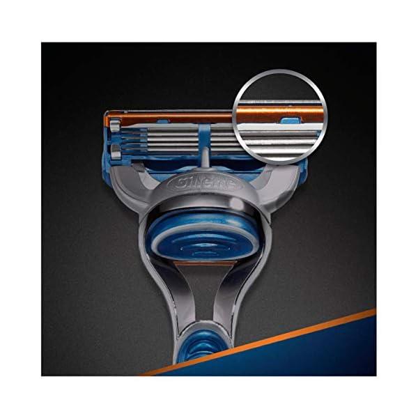Gillette Fusion 5 Lamette di Ricambio per Rasoio, Confezione da 11 Testine + Manico Gratis 7 spesavip