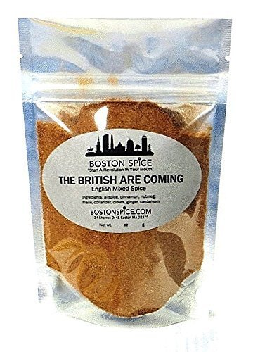 Boston Spice The British Are Coming English Mixed Spice Pudding Apple Pumpkin Pie Seasoning Blend For Baking Cakes Donuts Pastry Desserts Coffee Hot Chocolate (Approx. 1/4 Cup of Spice)