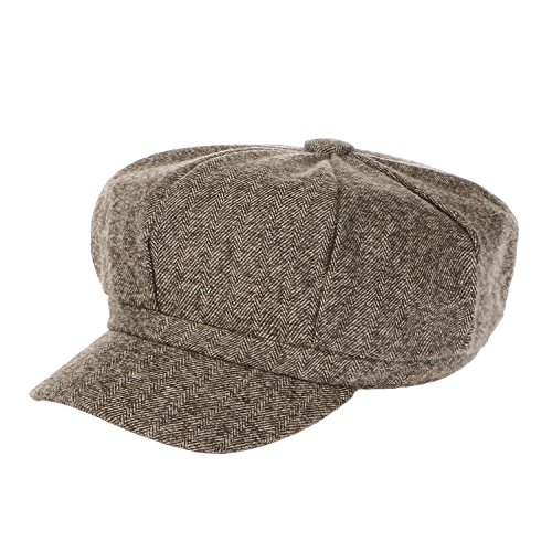 LeucosTicte Unisex Retro Octagonal Hat Newsboy Ivy Cap Stage Plaid Painter (Plaid Vintage Hat)