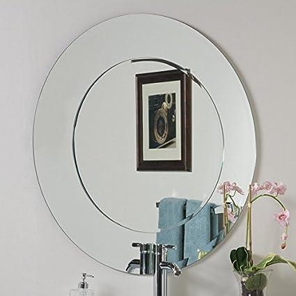 Quality Glass Frameless Round Mirror   Double Glass   Mirror for Wall   Mirror for Bathrooms   Mirror for Home   Mirror Decor   Mirror Size : 24 X 24 inch