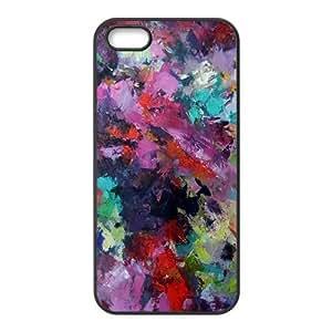 Colorful graffiti oil painting Phone Case for iPhone 5S(TPU) wangjiang maoyi
