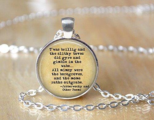 yijun Jabberwocky Necklace - Book Necklace - Lewis