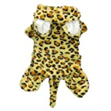 Adorable Leopard Costume for Dogs Clothes Pet Dog Coat Jumpsuit Costumes Pet Dog Cat Apparel, M, My Pet Supplies