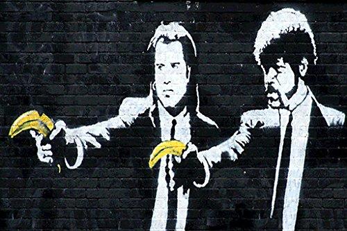 - Banksy Pulp Bananas Graffiti Art Poster 23.5x16.5 inch