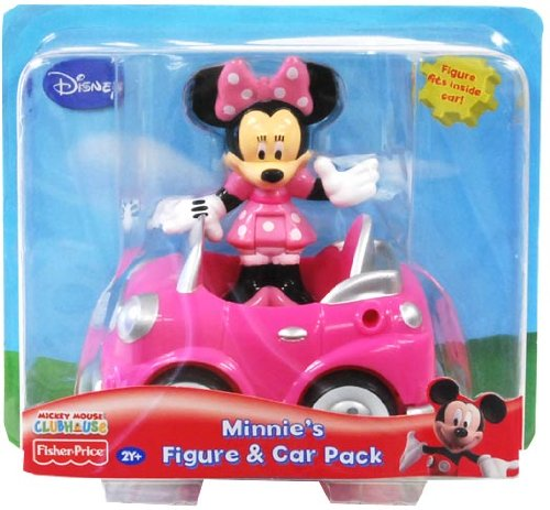 Disney Mickey Mouse Clubhouse Minnie figurine & Car Pack [Jouet] Mattel T3219 868-Toymaster-T6291.2-1052