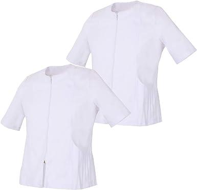 MISEMIYA - Pack*2-Camisa Camisetas Mujer Medica Mangas Cortas Uniforme Laboral Sanitarios Hospital Limpieza Ref.830: Amazon.es: Ropa y accesorios