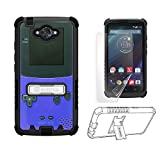 Cheap For Motorola Droid Turbo XT1254 [Dirtproof] Heavy Duty Use High Impact Armor Hybrid Hard + Soft Rugged Durable Phone Case with built in kickstand – FREE Screen Protector (Purple Game Controller Boy)