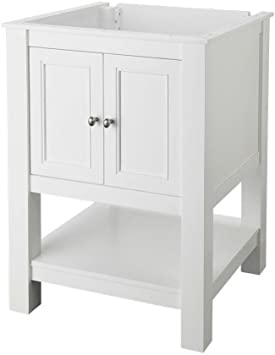 Amazon Com Foremost Gawa2422 Gazette 24 Inch Width X 22 Inch Depth Vanity Cabinet White Home Improvement