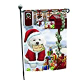 Bichon Dear Santa Letter Christmas Holiday Mailbox Dog Garden Flag