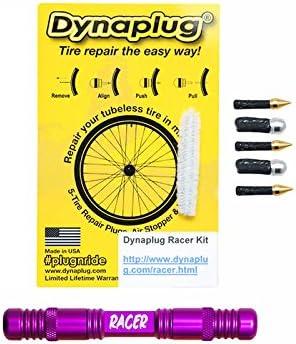 Dynaplug/® Racer kit de Outil de r/éparation Pneu sans chambre /à air de montagne V/élo Enduro Race