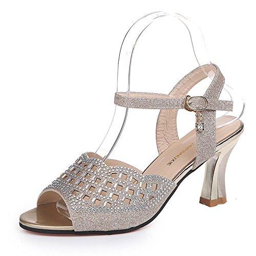 Vides Femmes Chaussures Creuses Mine Yalanshop D'or Pour 5YYqxHgnwU