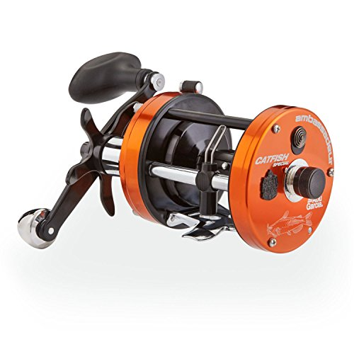 "Abu Garcia 1365392 C3 Catfish Special Round Reel, 6500 5.3: 1 Gear Ratio, 4 Bearings, 26"" Retrieve Rate, 15Lb Max Drag, Right Hand"