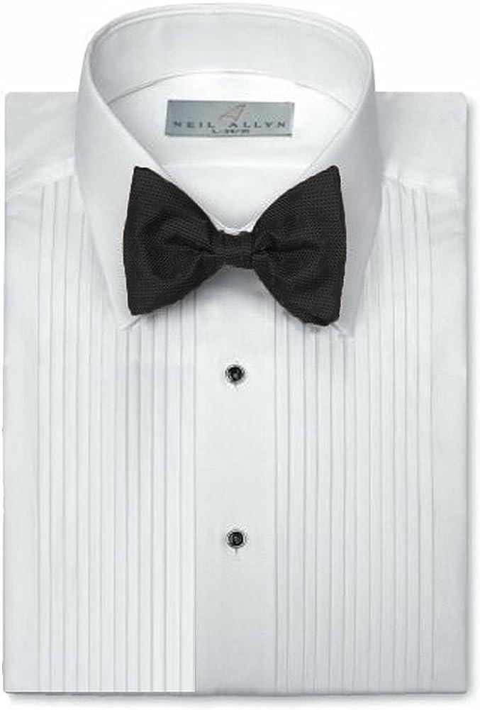 Neil Allyn Camisa para traje con cuello caído y pliegues de 0, 7 ...