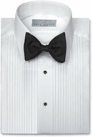 Neil Allyn Camisa para traje con cuello caído y pliegues de 0, 7 cm: Amazon.es: Ropa y accesorios